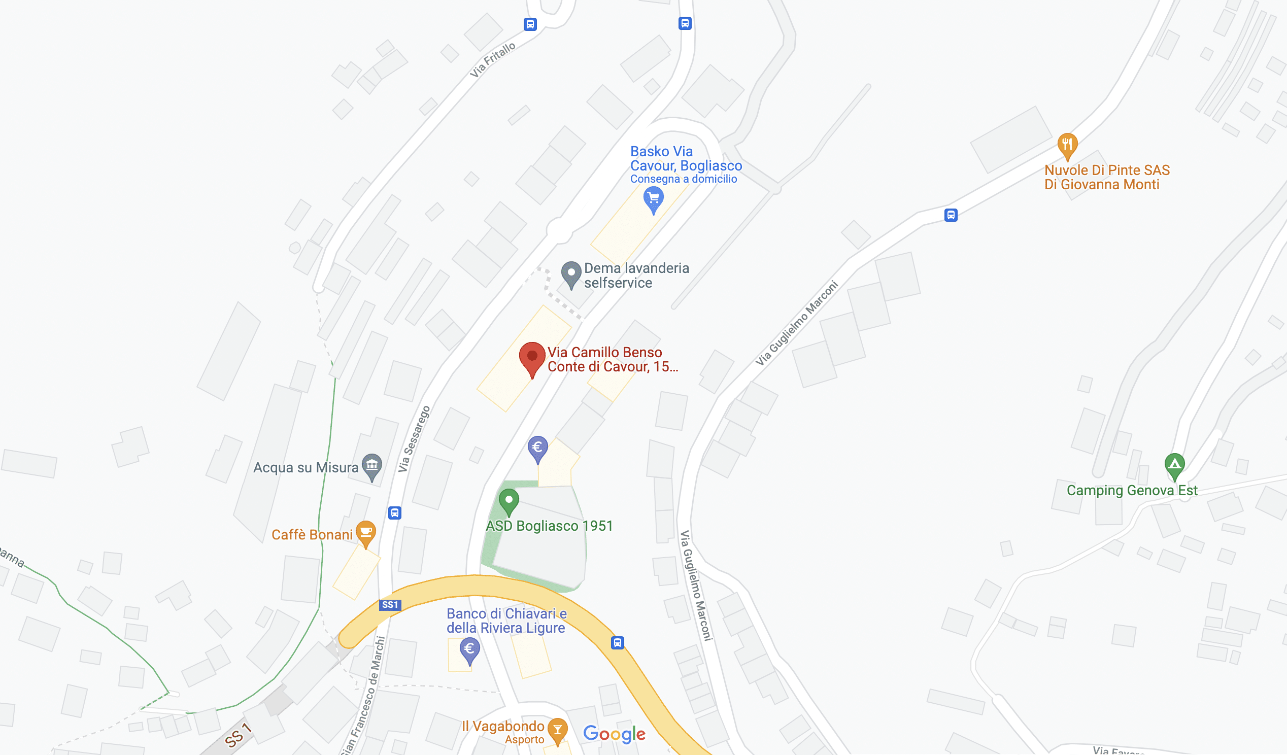 Via cavour 15 bogliasco google maps